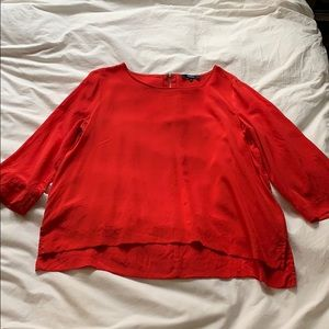 Madewell 100% silk red top